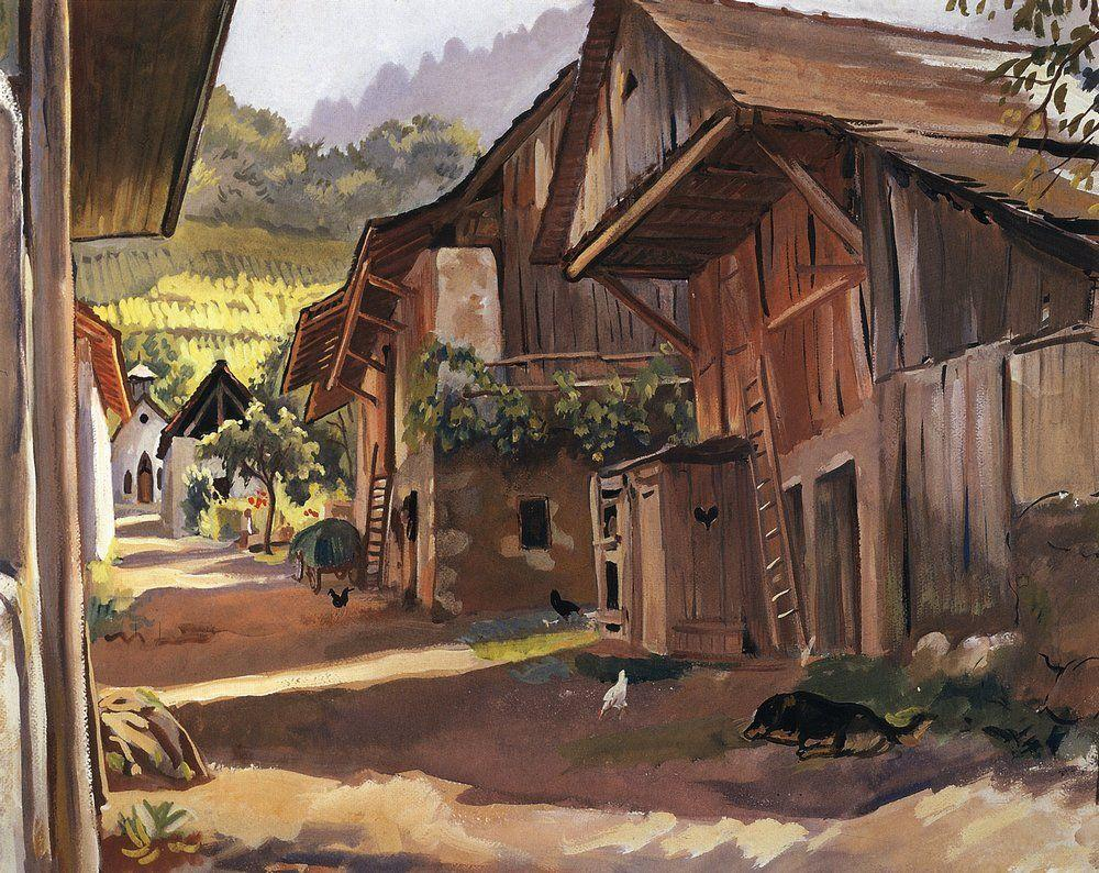 Alps. Village in the Savoie - Zinaida Serebriakova