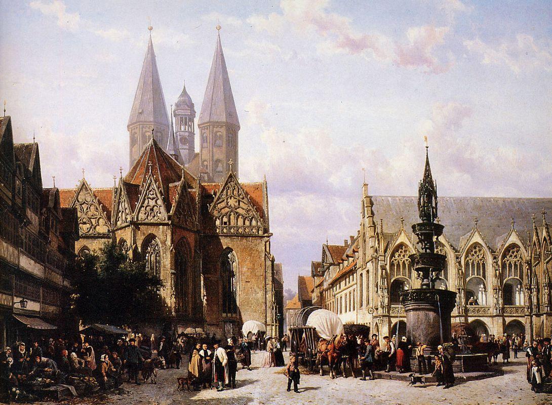 Altstadtmarkt in Brunswijk - Cornelis Springer