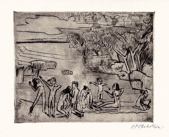Am Ufer (At the Riverbank) - Max Pechstein