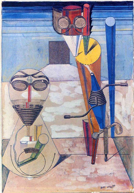 Ambiguous Figures (1 copper plate, 1 zinc plate, 1 rubber cloth...) - Max Ernst