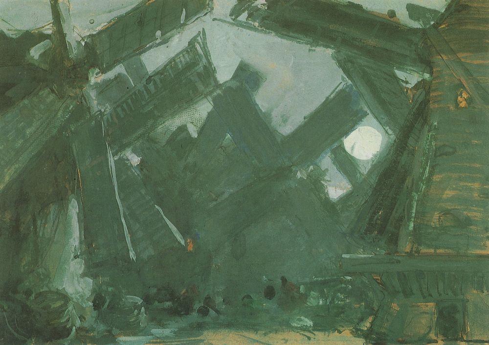 Among the mills  - Konstantin Korovin
