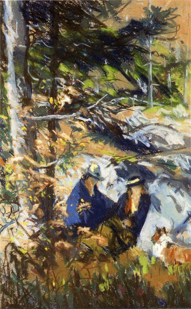 Among the Rocks, Monhegan Island, Maine  - Robert Henri