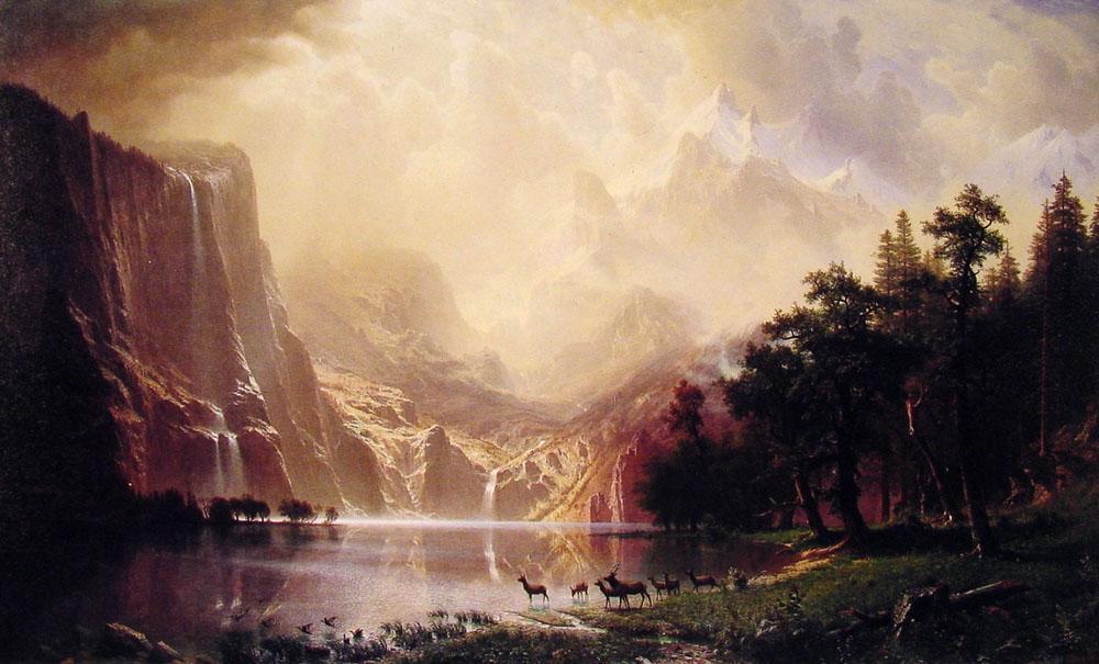Among the Sierra Nevada Mountains, California - Albert Bierstadt
