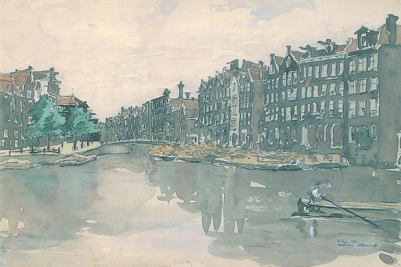 Amsterdam. The market of iron. - Anna Ostroumova-Lebedeva