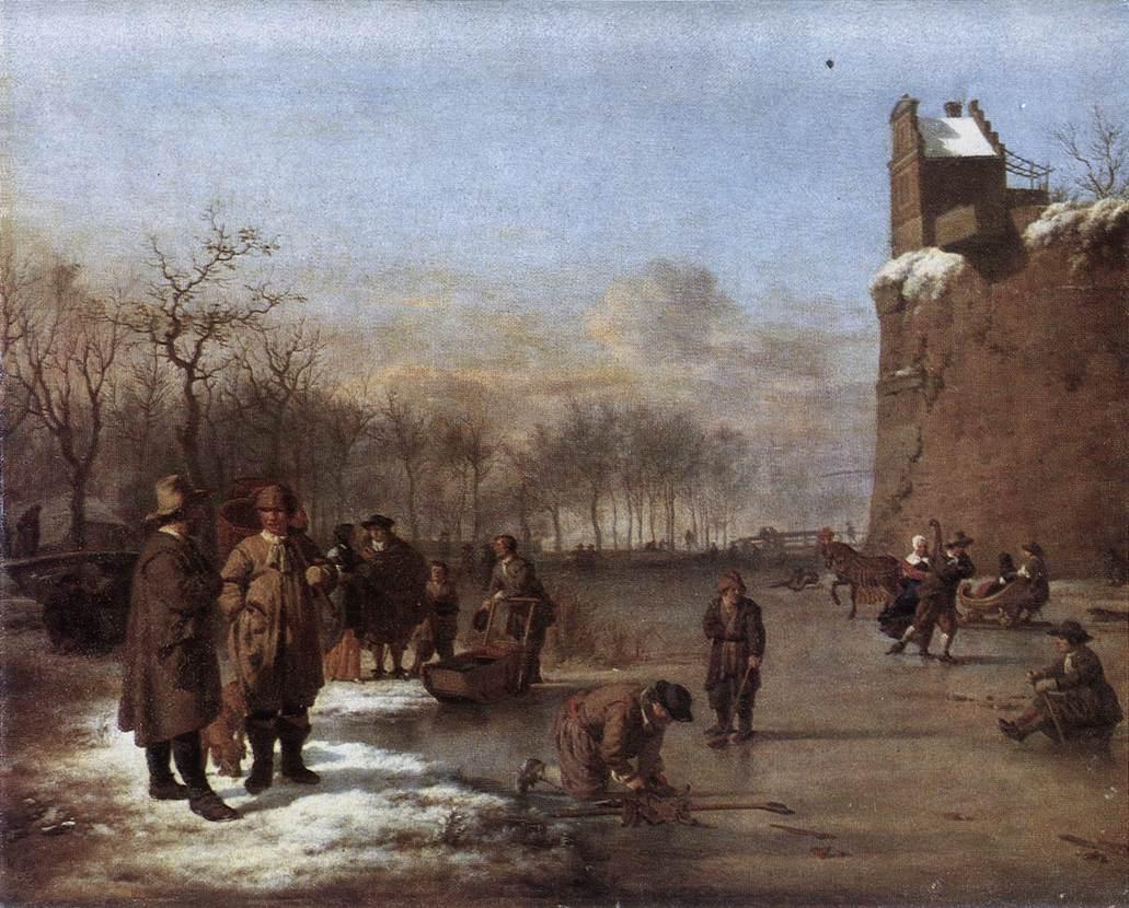 Amusement on the Ice - Adriaen van de Velde