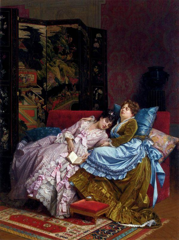 An Afternoon Idyll - Auguste Toulmouche