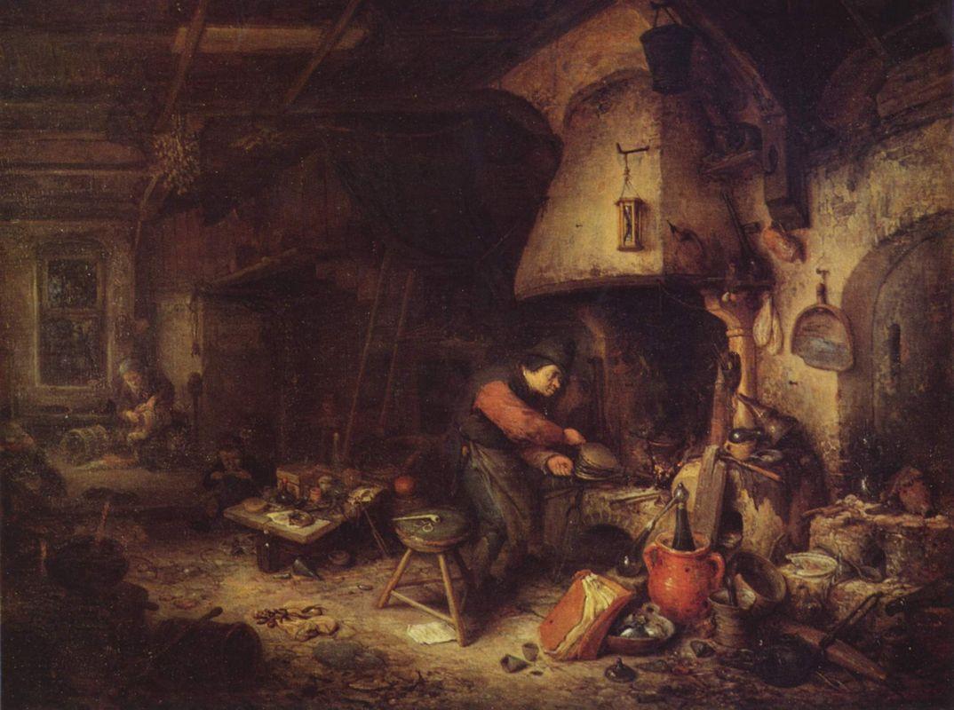 An Alchemist - Adriaen van Ostade