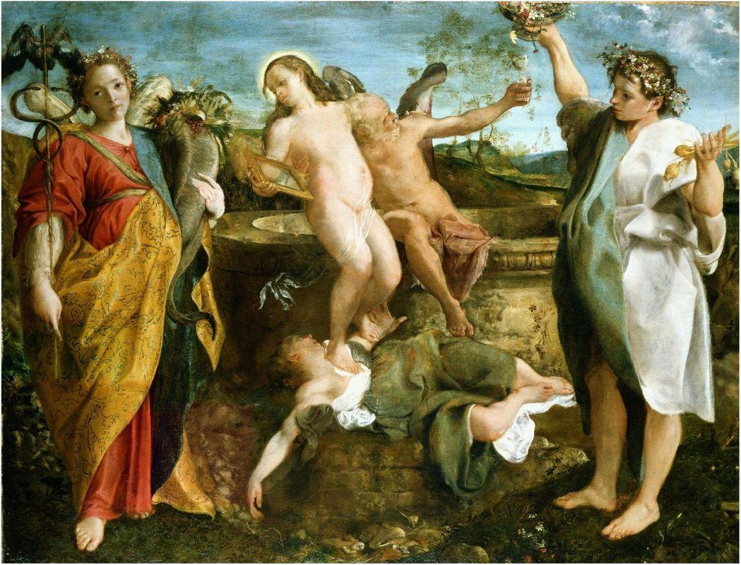 An allegory of Truth and Time - Annibale Carracci