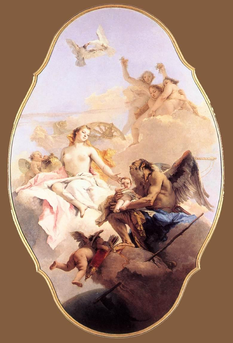 An Allegory with Venus and Time - Giovanni Battista Tiepolo
