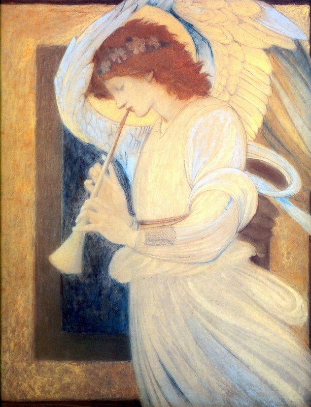 An Angel Playing a Flageolet - Edward Burne-Jones