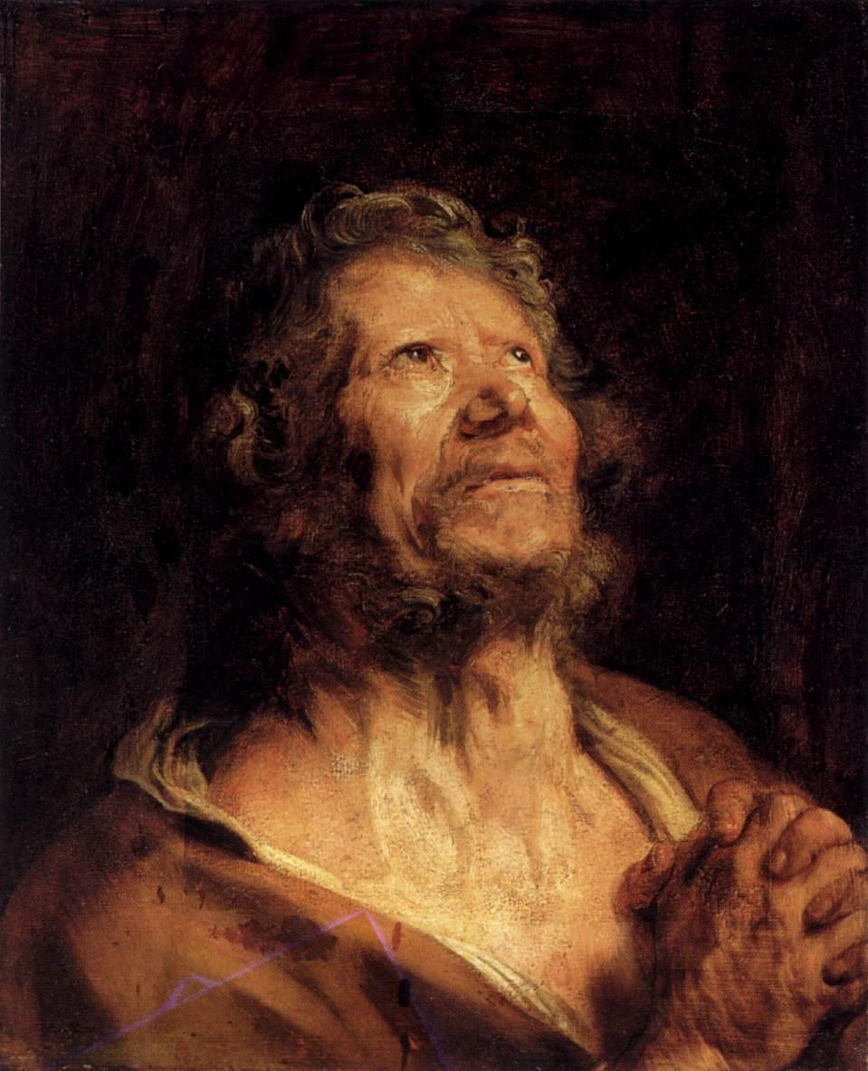 An Apostle with Folded Hands - Anthony van Dyck