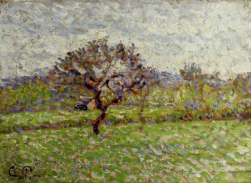 An Apple Tree at Eragny - Camille Pissarro