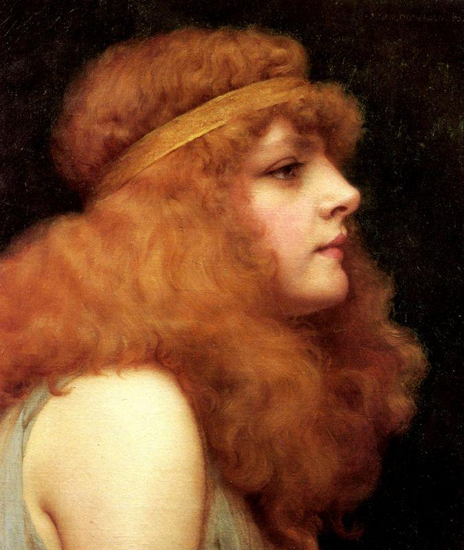 An Auburn Beauty - John William Godward