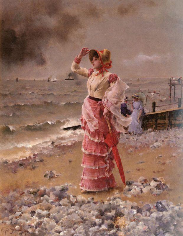 An elegant woman - Alfred Stevens