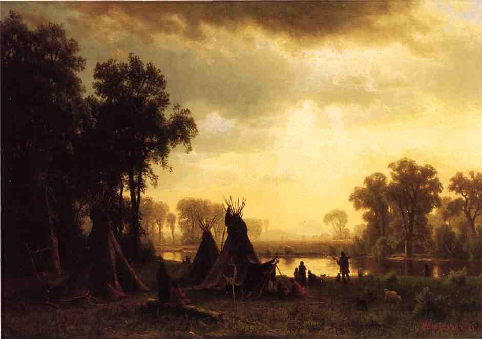 An Indian Encampment - Albert Bierstadt