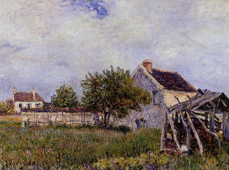 An Old Cottage at Sablons - Alfred Sisley
