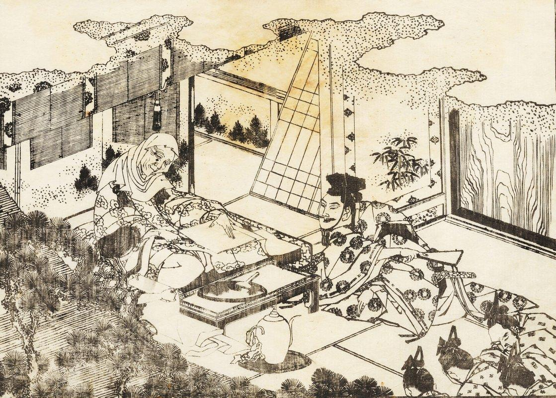 An old woman - Katsushika Hokusai