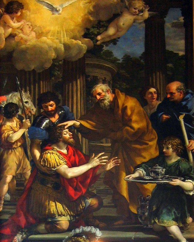 Ananias restoring the sight of Saint Paul - Pietro da Cortona