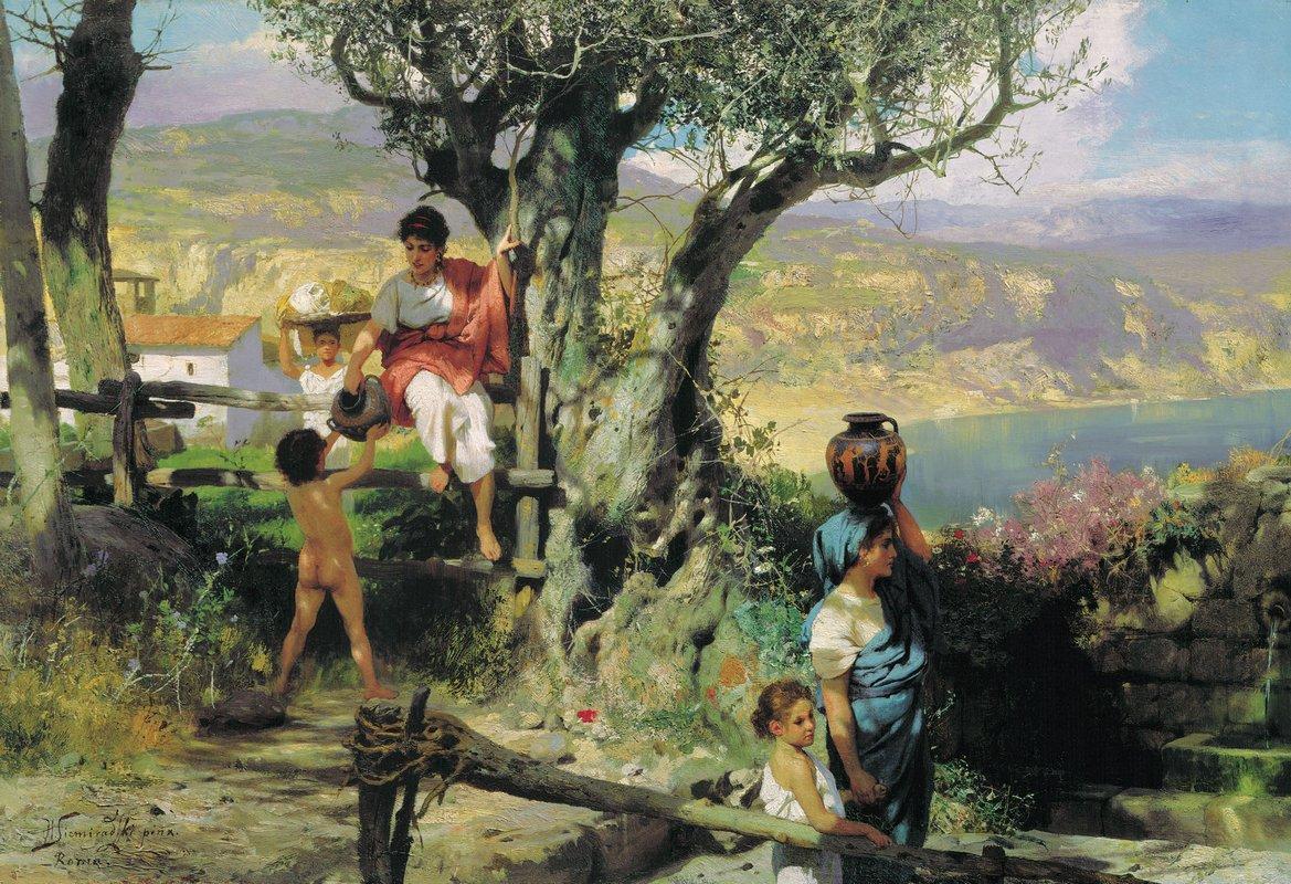 Ancient Rome. In a Village - Henryk Siemiradzki
