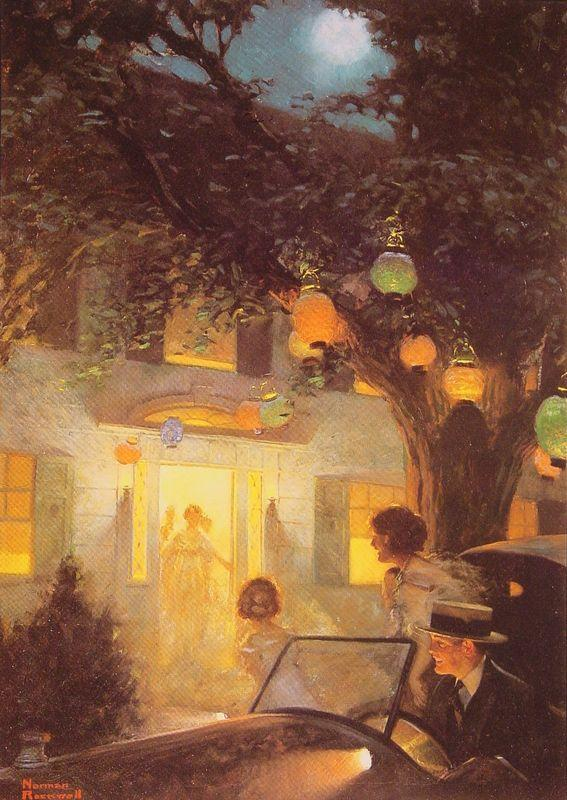 And the Symbol of Welcome is Light - Norman Rockwell