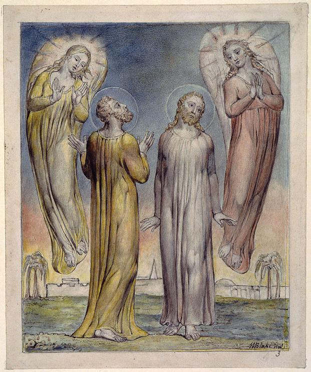 Andrew, Simon Peter Searching for Christ - William Blake