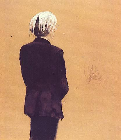 Andy Warhol - Back View, Standing - Jamie Wyeth