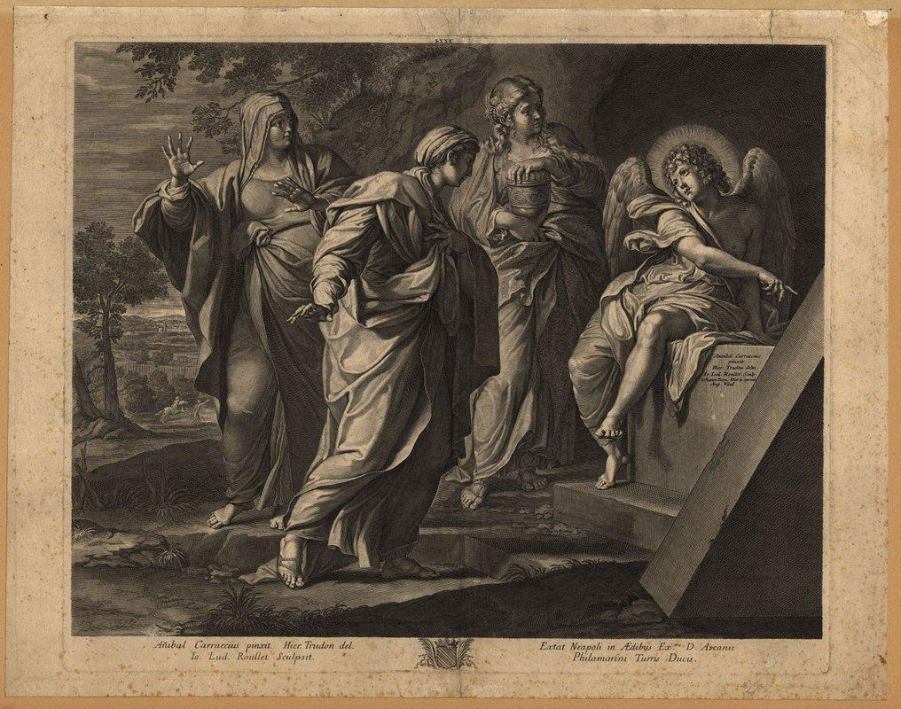 Angel announcing the resurrection of Christ to the three Marys - Annibale Carracci