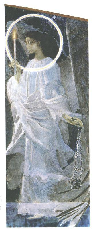 Angel with censer and candle - Mikhail Vrubel