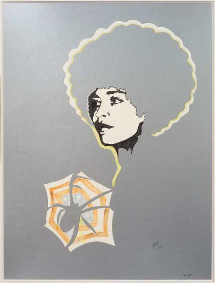Angela Davis II - Evelyne Axell