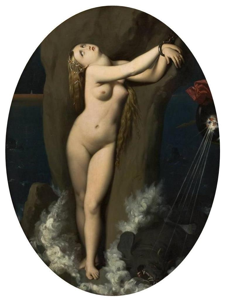 Angelica in Chains - Jean Auguste Dominique Ingres