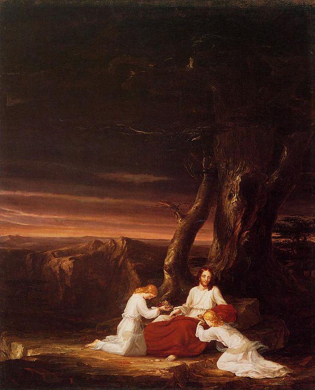Angels Ministering to Christ in the Wilderness - Thomas Cole