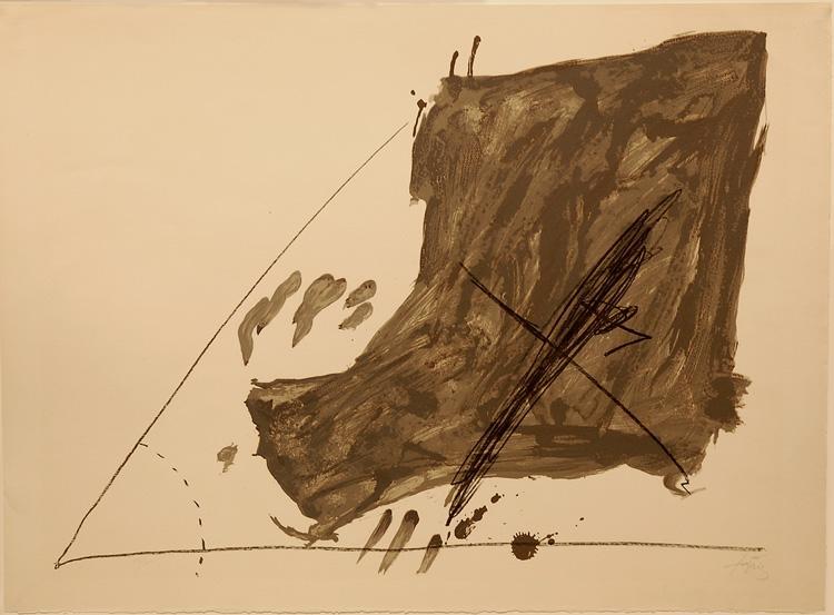 Angle et taches - Antoni Tapies