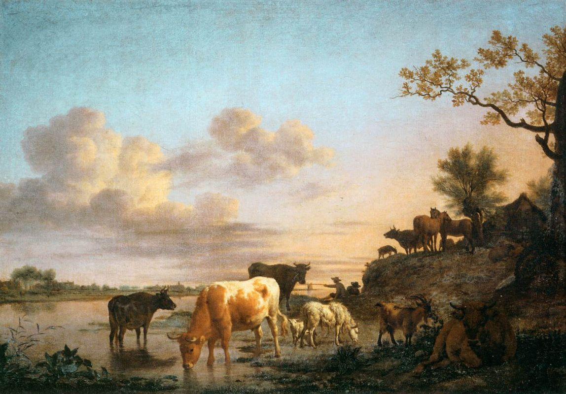 Animals by the River - Adriaen van de Velde