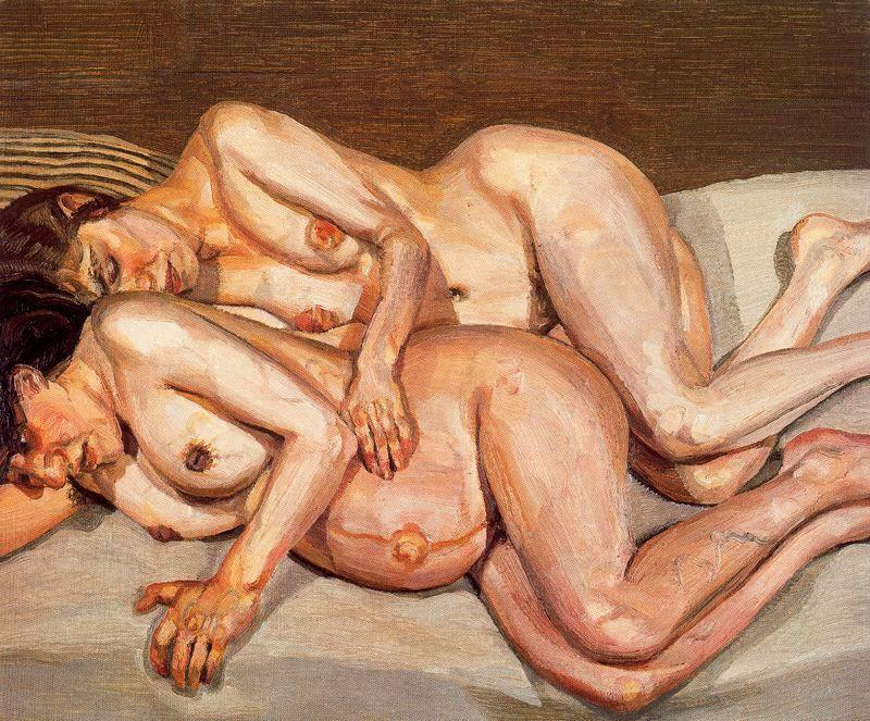 Annie and Alice - Lucian Freud