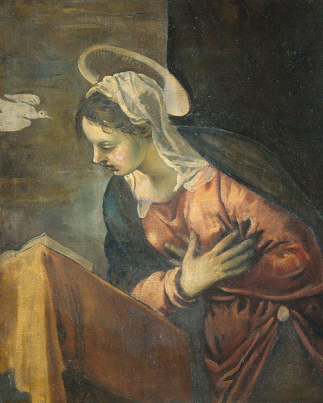 Annunciation, Maria - Tintoretto