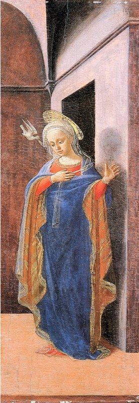 Annunciation, right wing - Filippo Lippi