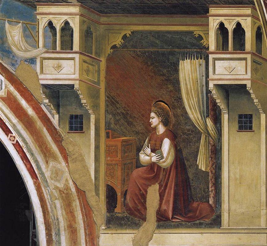 Annunciation: The Virgin Receiving the Message - Giotto