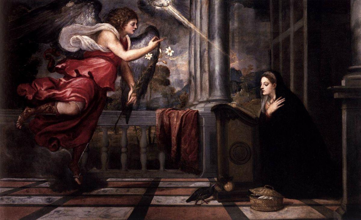 Annunciation - Konstantinos Parthenis