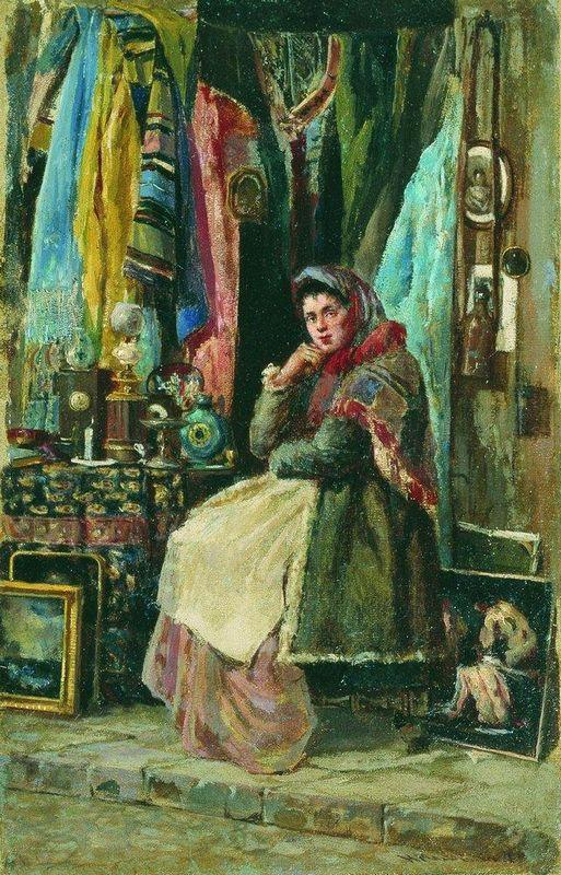 Antique Shop - Konstantin Makovsky