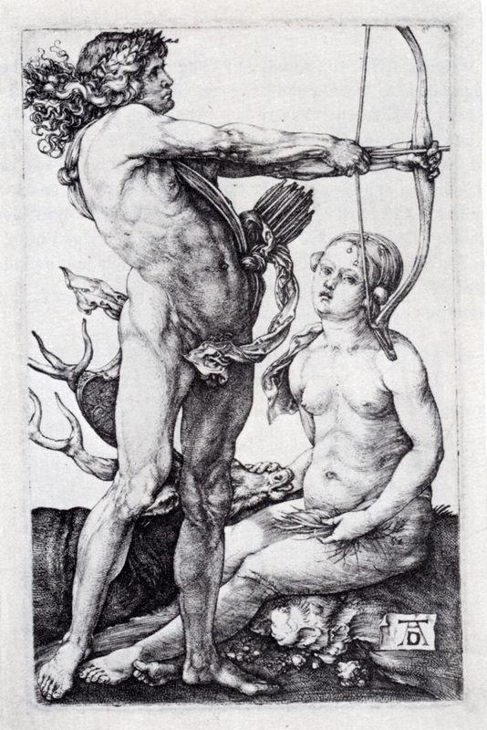 Apollo And Diana - Albrecht Durer