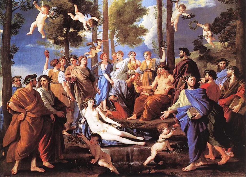 Apollo and the Muses - Nicolas Poussin
