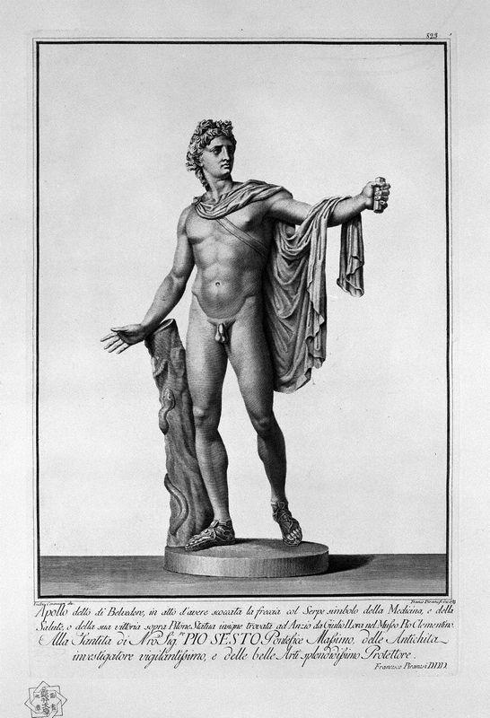 Apollo Belvedere - Giovanni Battista Piranesi