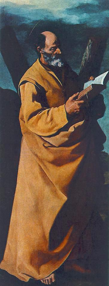 Apostle St. Andrew - Francisco de Zurbaran