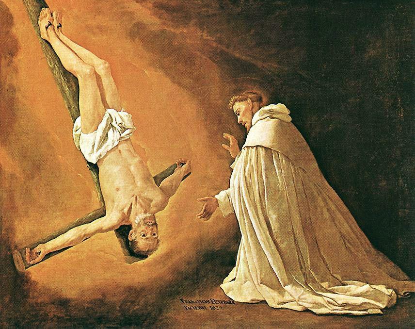 Appearance of St. Peter to St. Peter Nolasco  - Francisco de Zurbaran