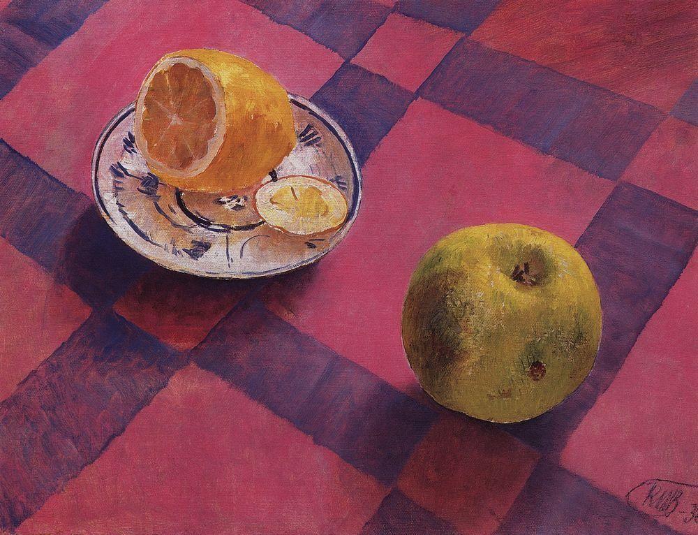 Apple and lemon  - Kuzma Petrov-Vodkin