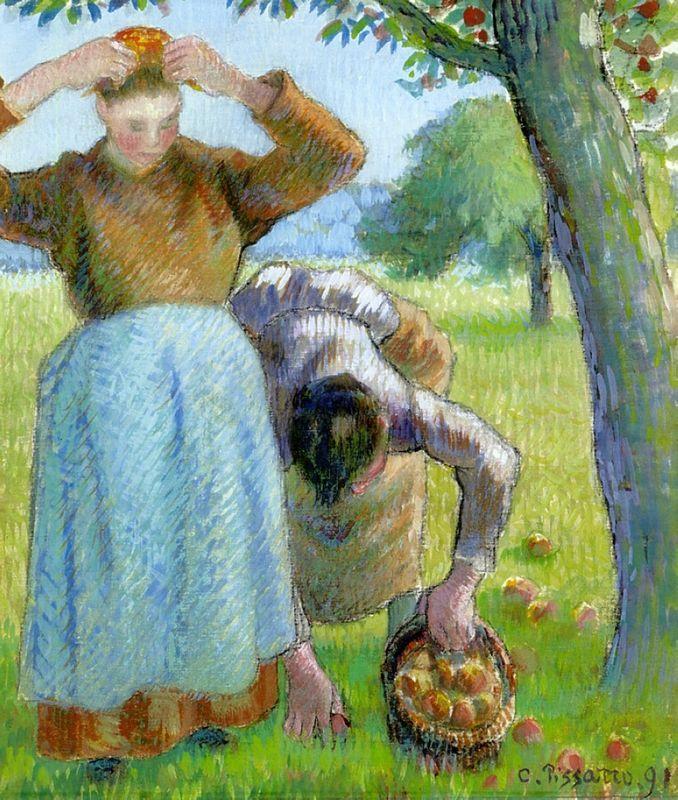 Apple Gatherers - Camille Pissarro