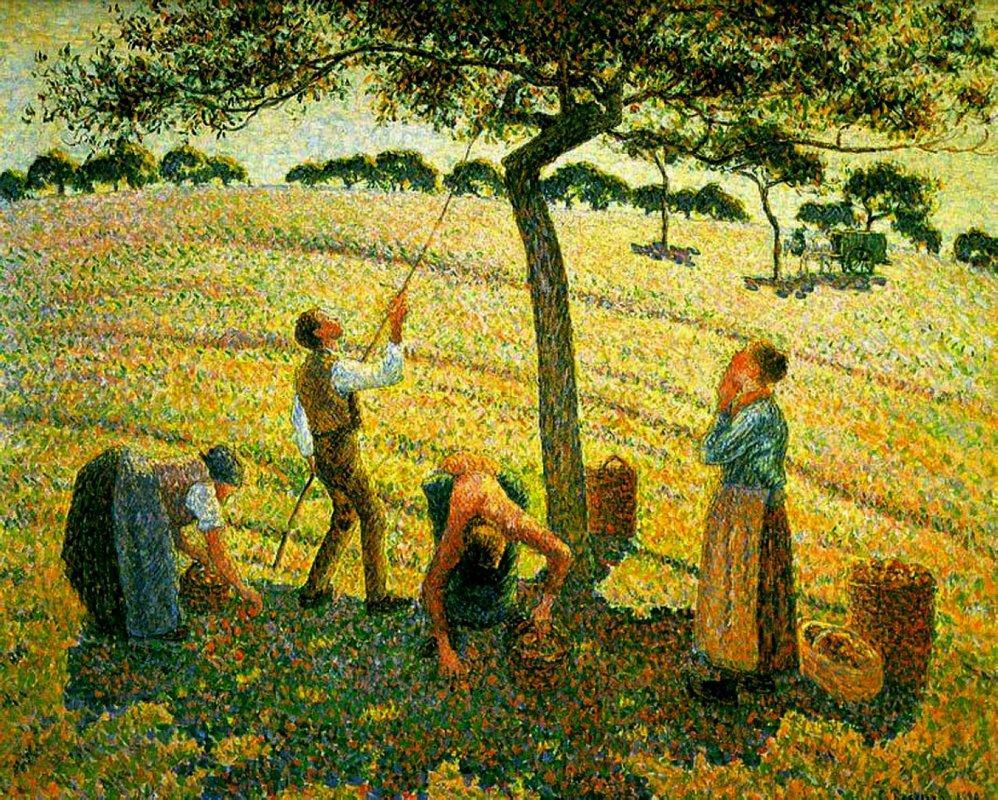 Apple Picking at Eragny-sur-Epte - Camille Pissarro