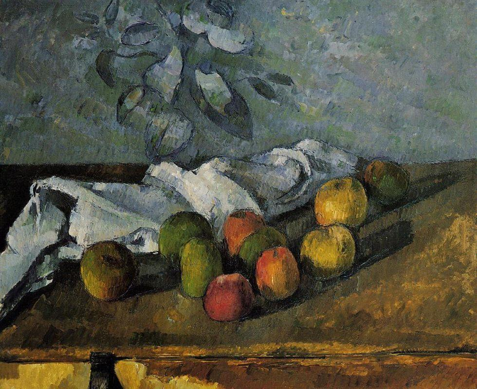 Apples and a Napkin  - Paul Cezanne