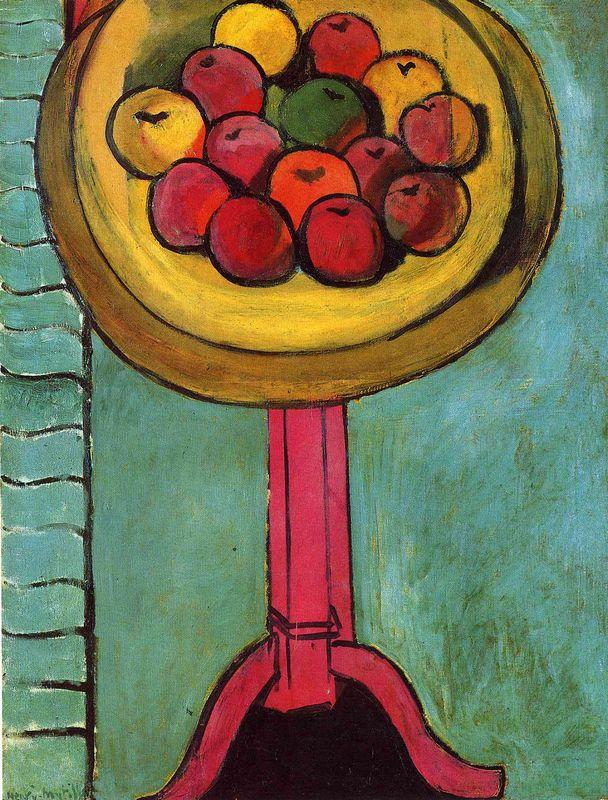 Apples on a Table, Green Background - Henri Matisse