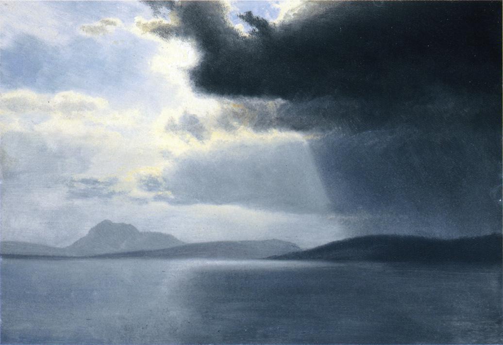 Approaching Thunderstorm on the Hudson River - Albert Bierstadt